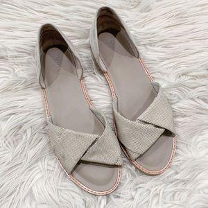 Vince. Idara Twisted Woven D'Orsay Sandal Flat 7.5
